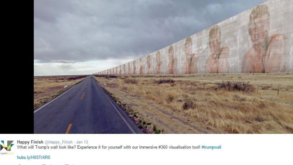 Ketika Tembok Trump Jadi Meme Kocak