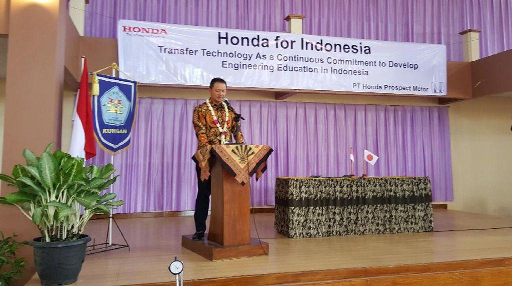 Dukung Tenaga Kerja Siap Pakai, Honda Transfer Teknologi ke SMK
