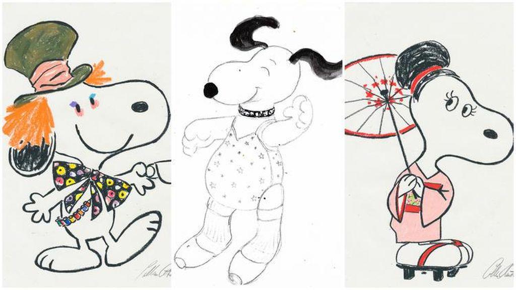 Sketsa Snoopy dan Belle Dibawa Tur Keliling Amerika
