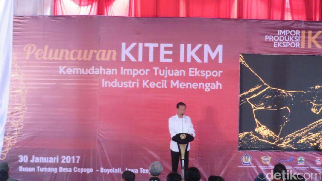 Bebaskan Pajak dan Bea Masuk, Jokowi Ingin Usaha Kecil Gencar Ekspor