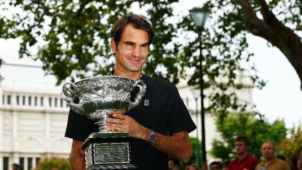Rapalan Mantra yang Mengantarkan Federer Juara Australia Terbuka 2017