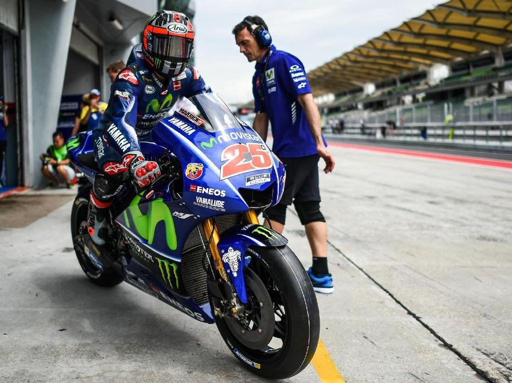 Bagaimana Rossi Mengejar Kecepatan Vinales?