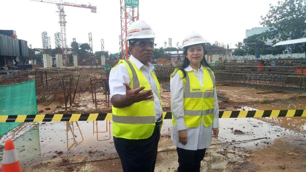 Sumarsono dan Menteri Puan Tinjau Proyek Asian Games DKI 2018