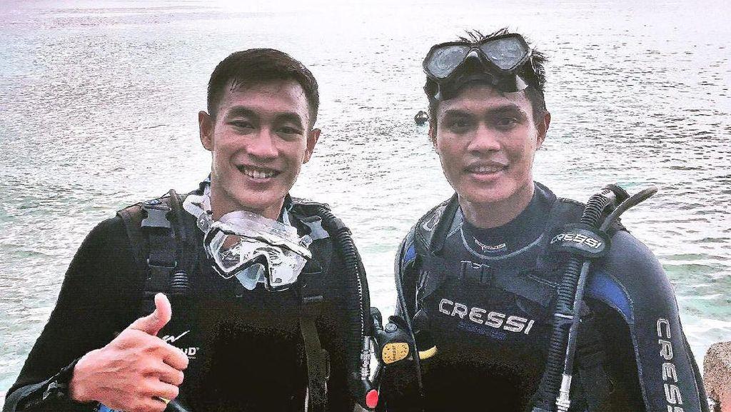 Hansamu Yama & Fachruddin Jajal Diving di Gorontalo
