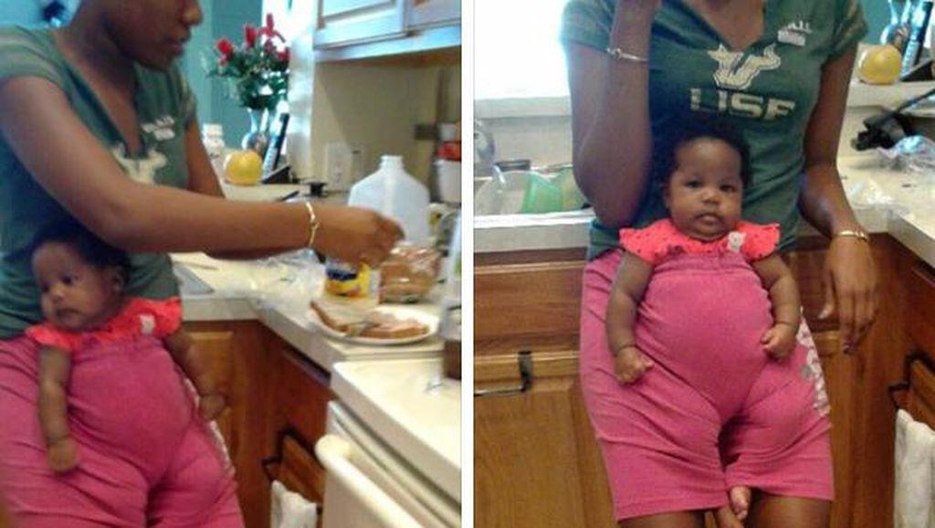 Kreatif! Cara Remaja Agar Bisa Makan Saat Jaga Sepupu yang Masih Bayi