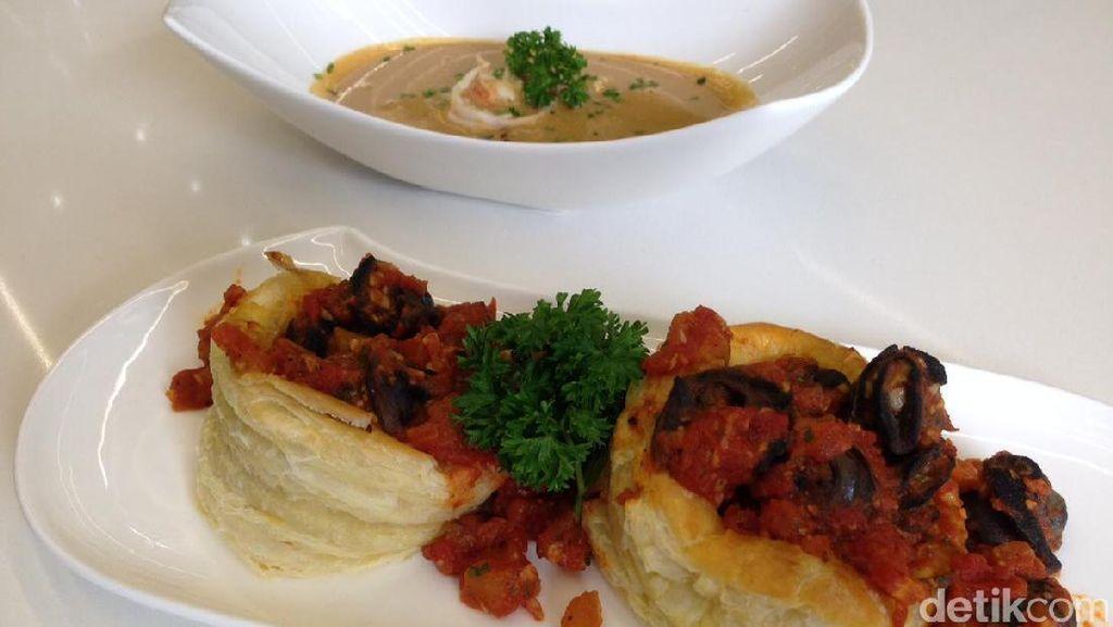 Dua Menu Pembuka Berbahan Seafood dan Escargot Dibongkar dalam French Cooking Class