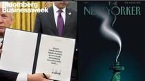 Majalah-majalah Dunia Jadikan Trump Gambar Sampul Kontroversial