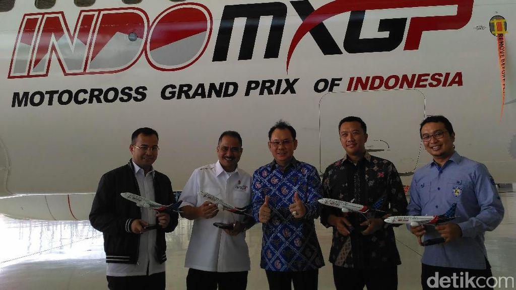 Sebelum Aksi di Lintasan, MXGP Melayang Via Sriwijaya Air