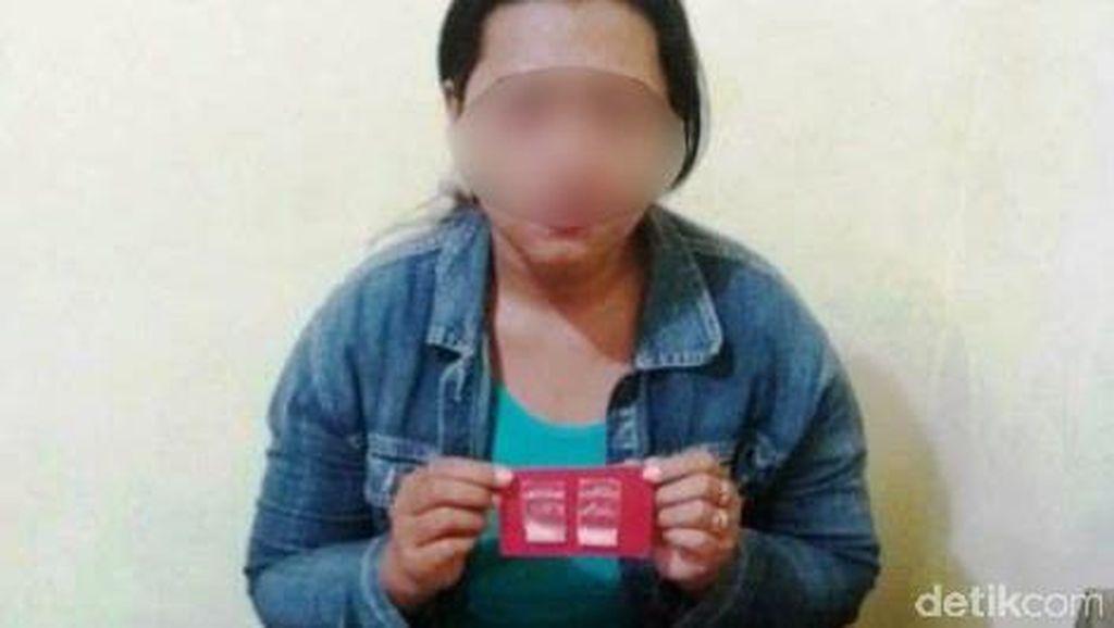 Perempuan ini Ditangkap Saat Bawakan Suami Bakso Rasa Sabu