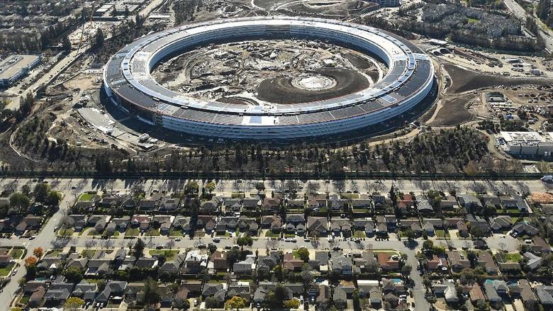 Penampakan Terkini Pembangunan Apple Campus 2