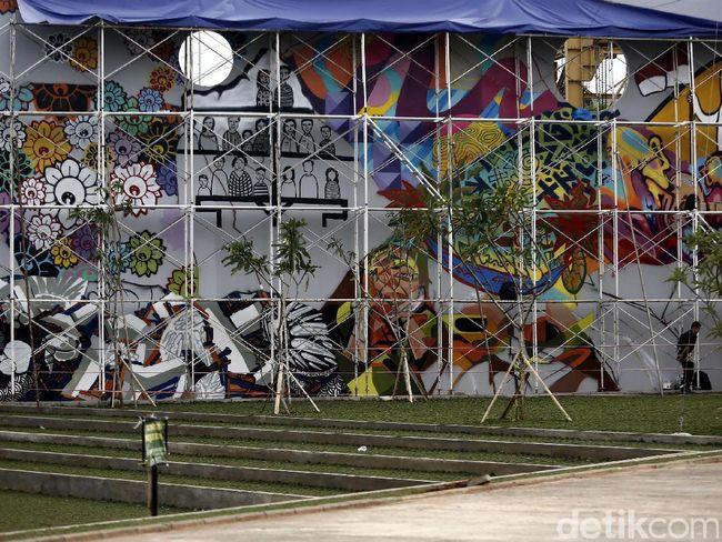 Asal tak singgung sara kreasi grafiti dan mural di for Mural kalijodo