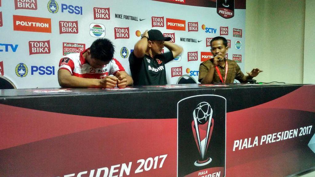 Meski Kalah, Pelatih Madura United Puas dengan Performa Timnya