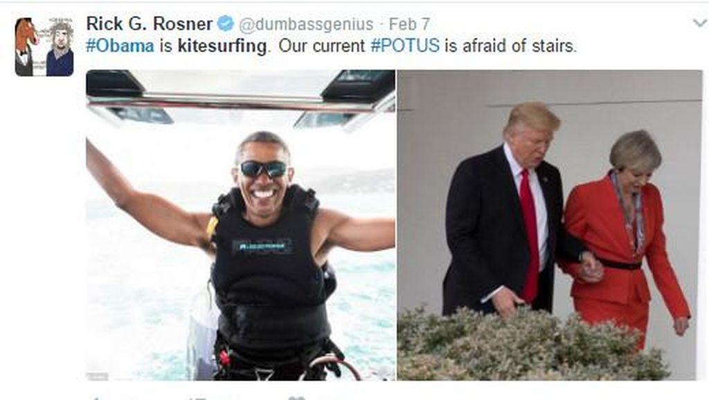 Liburan Seru Obama Jadi Meme Lucu Sekaligus Haru