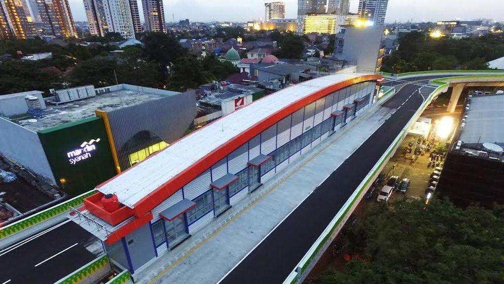 Busway Layang Seksi Kebayoran Lama Rampung, Ini Bentuknya