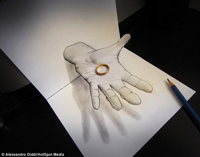Dia adalah Alessandro Diddi seorang seniman asal Italia yang menggambar aliran lukisan 3D atau anamorphic. (Foto: Alessandro Diddi)