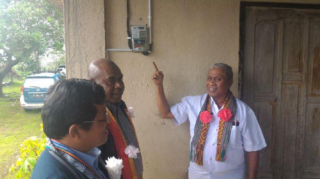 PLN Terangi Desa di Perbatasan RI-Timor Leste