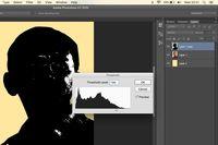 Klik Images —> adjustment —> treshold.