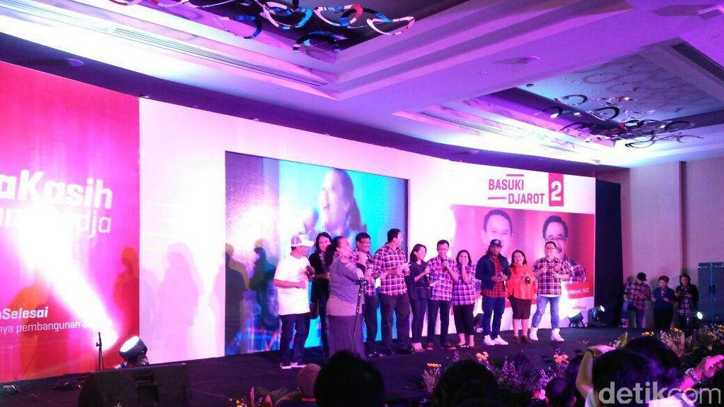Lagu Ini Jakarta Buka Acara Pendukung Badja, Ahok-Djarot Joget