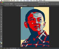 Membuat background dan frame (canvas size).