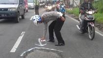 Banyak Kecelakaan, Polisi Operasi Jalan Rusak di Pandaan