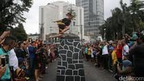 Aksi Lompat Batu Ramaikan Festival Budaya Nias