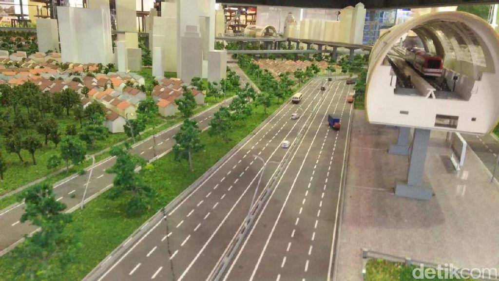 Penampakan Proyek LRT Jabodebek di Indonesia Property Expo
