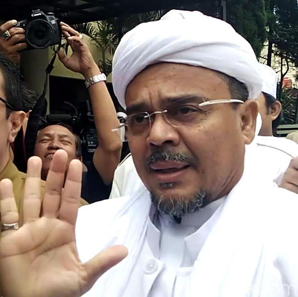 Perlawanan Habib Rizieq Saat Jadi Tersangka