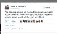 Menteri Agama: Pilih Cagub Berdasar Agama Tak Langgar Konstitusi