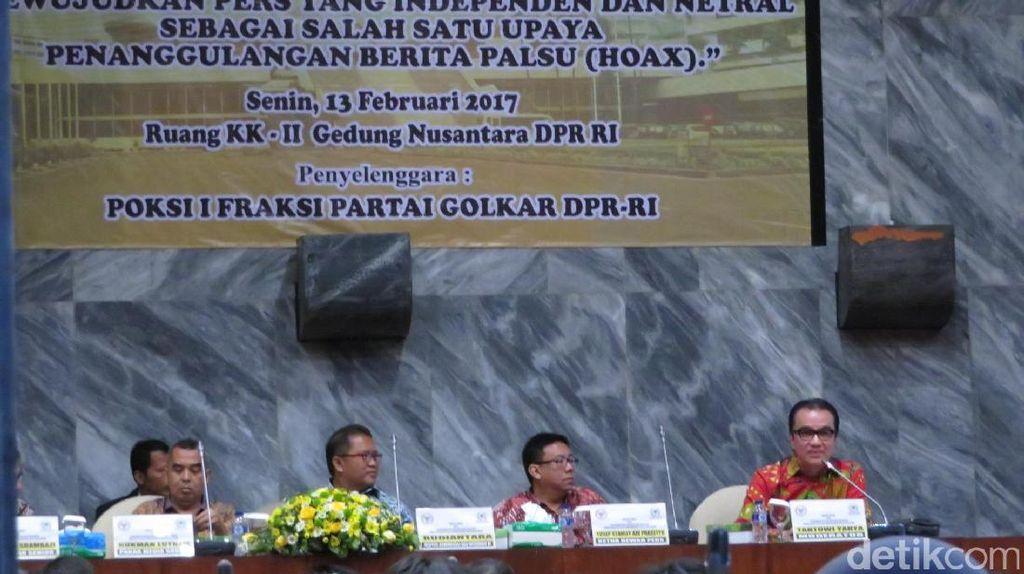 HUT ke-49, Fraksi Golkar di DPR Gelar Seminar tentang Pers