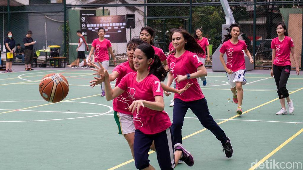Serunya Main Basket Bareng Tim T JKT48