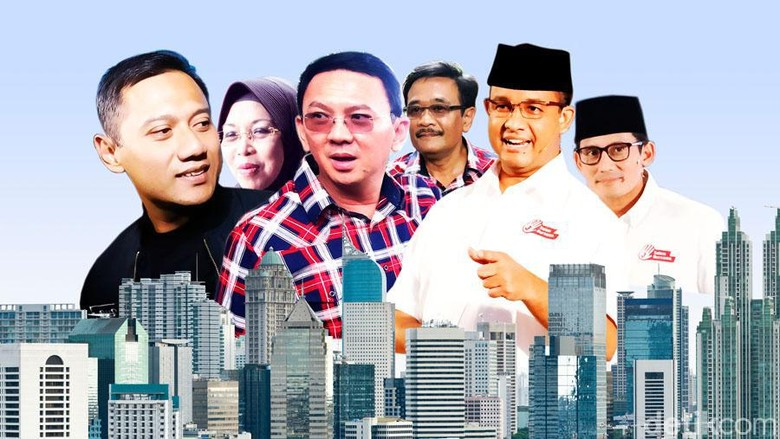 Hasil Final Real Count C1 KPU:  Ahok 42,91%, Anies 40,05%, Agus 17,05%