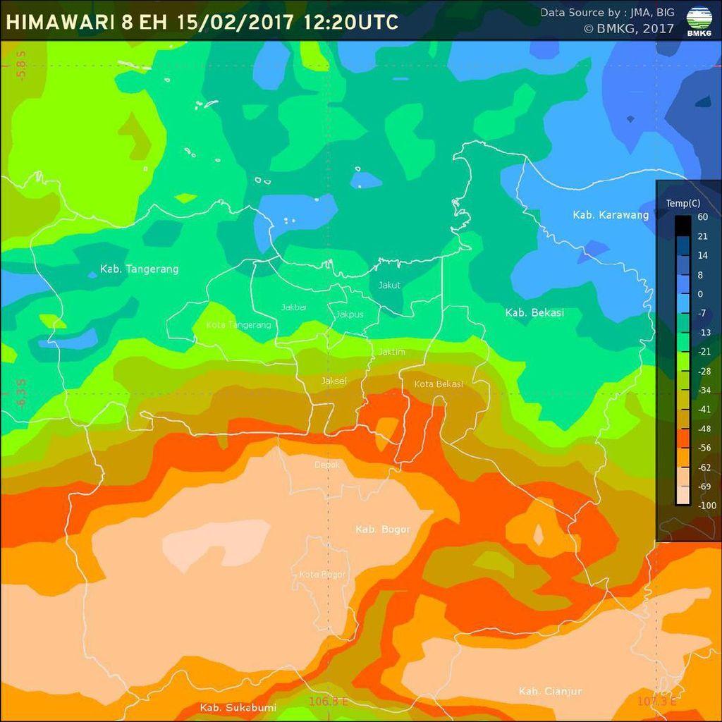 BMKG: Hujan Lebat Berpotensi Guyur Jabodetabek Pagi Ini