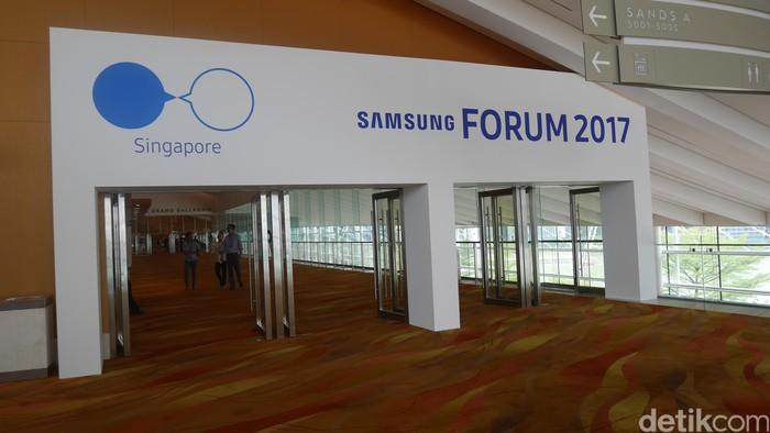 Samsung Forum 2017 digelar di Singapura, berlokasi di Sands Expo and Convention Centre. (detikINET/Josina)