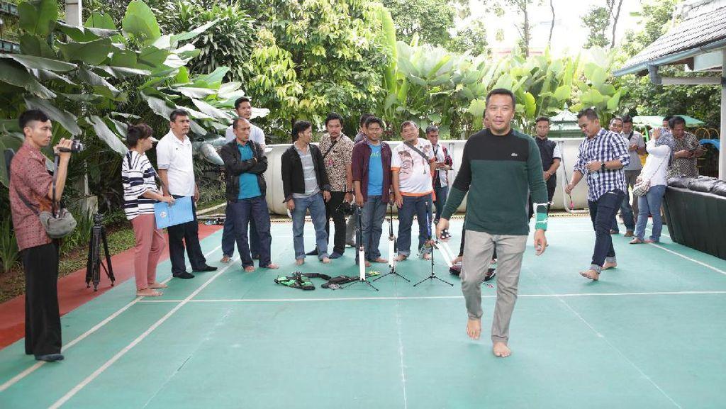 Libur Pilkada, Menpora Ngumpul Bareng Keluarga dan Wartawan