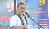 Resmikan Jaringan Irigasi, Ketua MPR Harap Petani Makmur