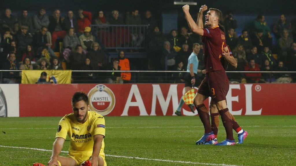 Dzeko Hat-trick, Roma Gilas Villarreal 4-0