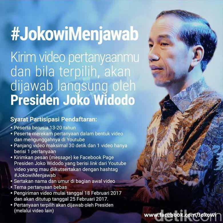 Jokowi Buka Tanya-Jawab #JokowiMenjawab via Video di YouTube