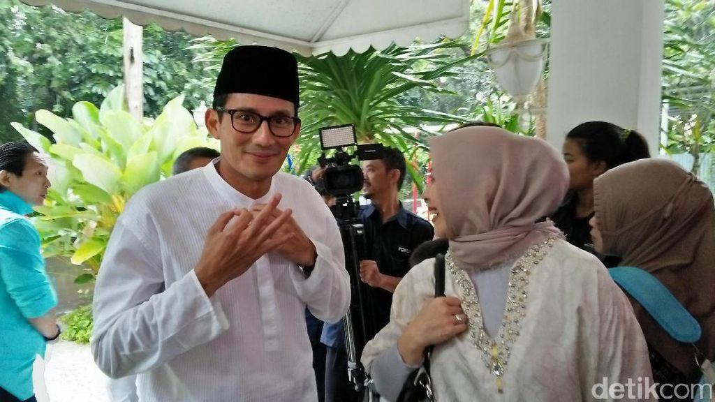 Datangi Syukuran Raffi Ahmad, Sandiaga Minta Doa Putaran Kedua