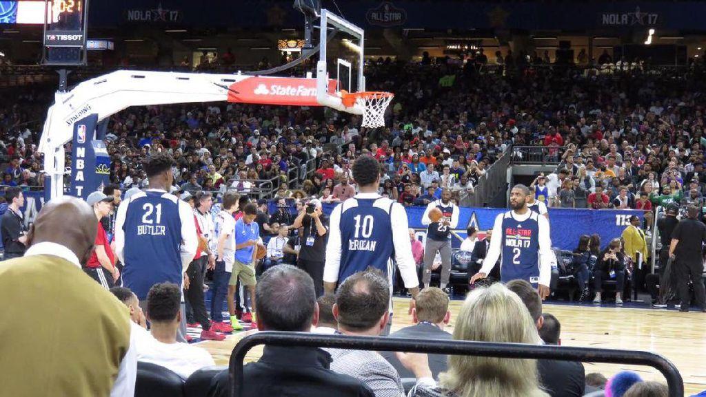 Mengintip Para Bintang NBA Latihan Jelang All-Star Game