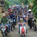 Keliling Lampung Timur Bersama Pecinta Motor Tua