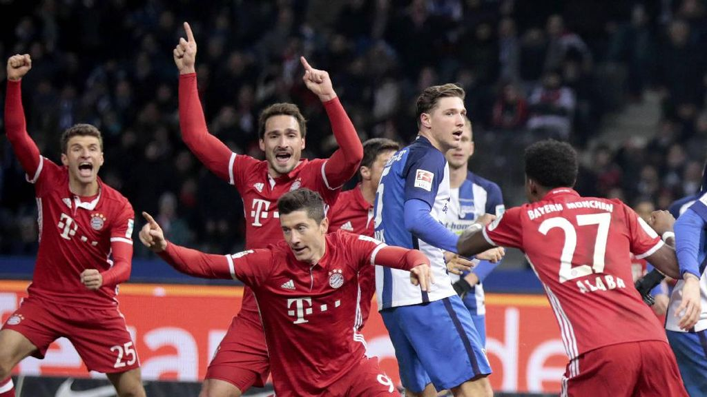 Gol Lewandowski di Menit Akhir Selamatkan Bayern dari Kekalahan