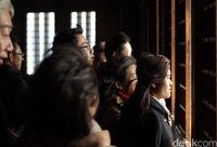 Para wisatawan di dalam kastil (Andi Saputra/detikTravel)