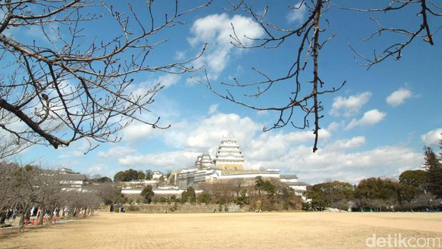 Kastil Himeji dari kejauhan (Andi Saputra/detikTravel)