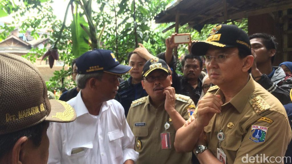 Cek Wilayah Bukit Duri, Ahok: Warga Tahu Harus Dinormalisasi