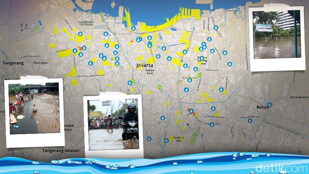 Jakarta Banjir, BMKG: Pertemuan Angin dan Curah Hujan Lebih 50 mm