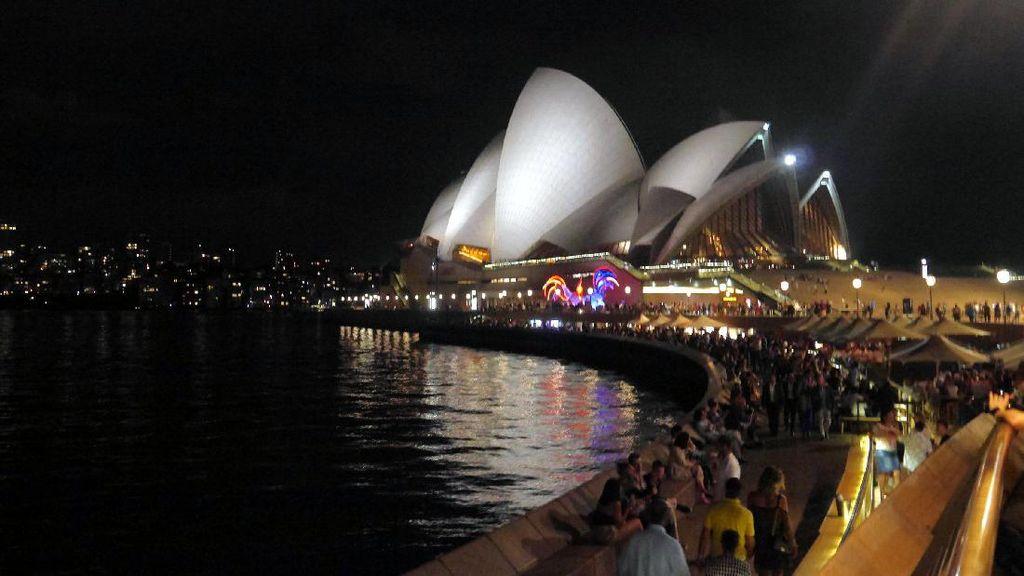 Sydney Opera House di Kala Malam, Cantiknya!