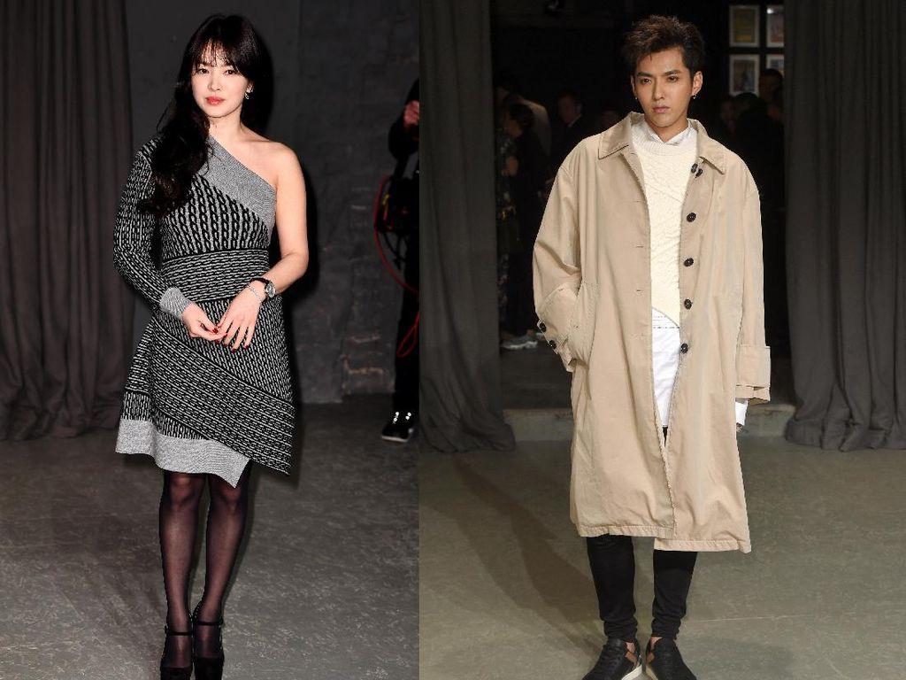 Gaya Song Hye Kyo dan Kris Wu di London Fashion Week 2017