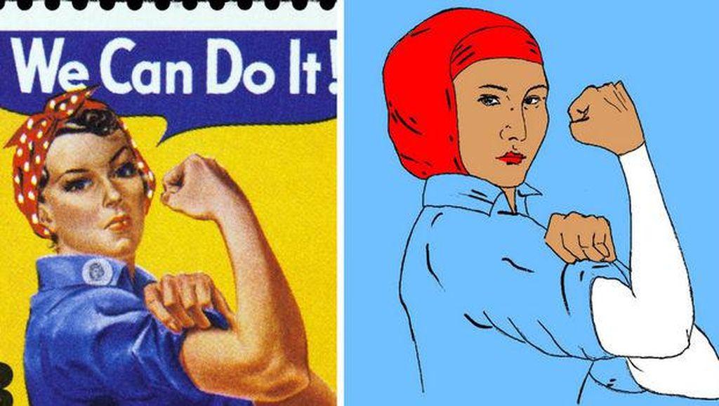 Baju Gambar Wanita Ikonik Amerika yang Berjilbab Ini Populer di Chicago