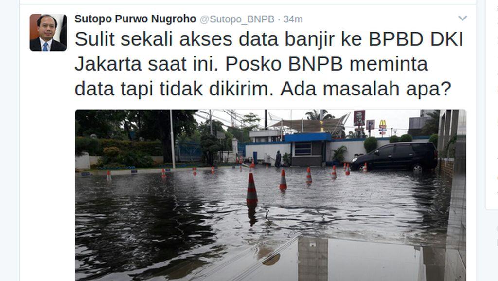 BNPB Sulit Akses Data Banjir, BPBD DKI: Semua Ada di Twitter