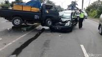 Kecelakaan Libatkan Tiga Kendaraan di Lamongan, Dua Orang Luka